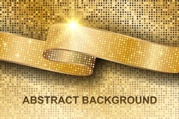 Abstrakte goldstruktur.
