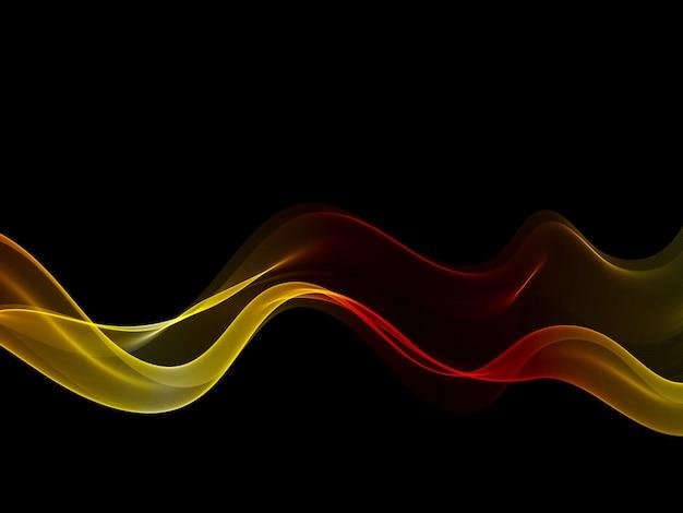 Abstrakte goldwelle, schwarzer hintergrund. illustration