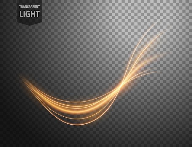 Abstrakte goldwellenlinie des lichtes