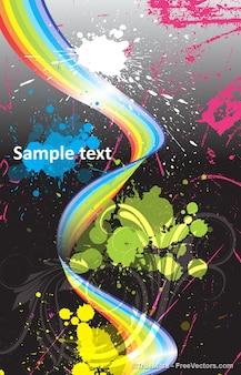 Abstrakte grafik-design illustrator vektor