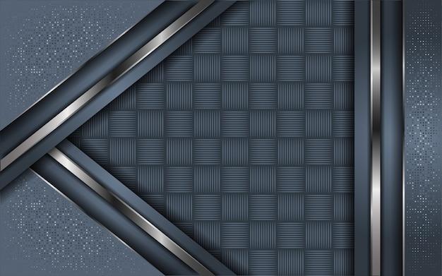 Abstrakte graue hintergrundüberlappungsschicht mit funkeln