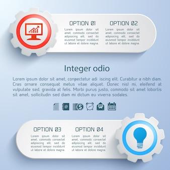 Abstrakte graue infografikschablone mit textfeld