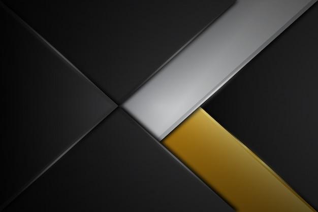 Abstrakte graue linie moderne futuristische hintergrundvektorluxusillustration des glatten metalldesigns