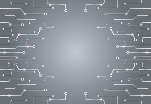 Abstrakte graue technologie zeichnet hintergrund