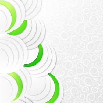 Abstrakte grünbuchkreise