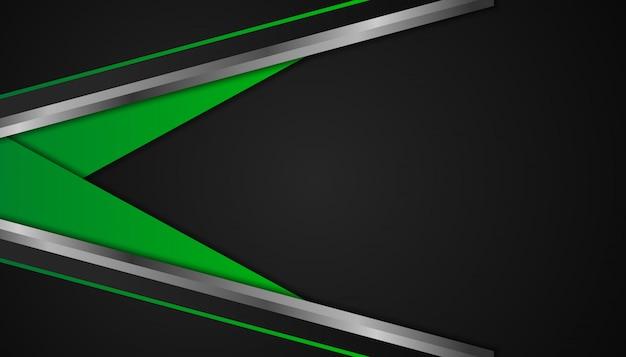 Abstrakte grüne geometrische formen auf dunklem hintergrund
