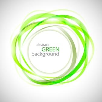 Abstrakte grüne ringe