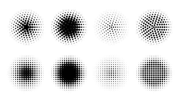 Abstrakte grunge halbton verzerrte formen hintergrunddesign