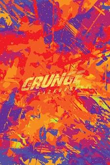 Abstrakte grunge-hintergrund-farbexplosion für trikot-team-rennsport-radsport-fußball-spiele