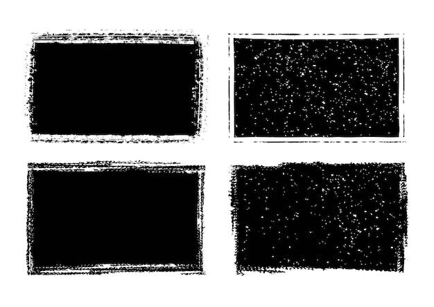 Abstrakte grunge schwarze rahmen