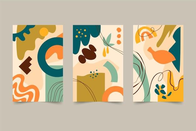 Abstrakte handgezeichnete formen decken sammlung ab