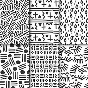 Abstrakte handgezeichnete mustersammlung
