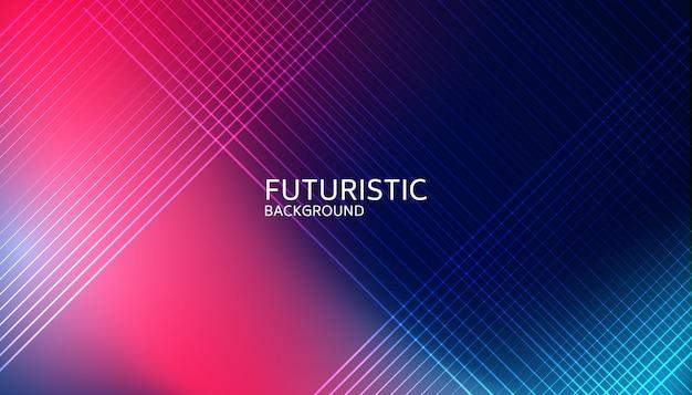 Abstrakte helle linie futuristischer hintergrund