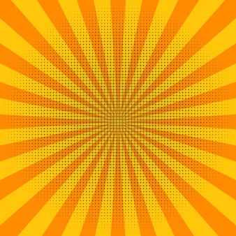 Abstrakte hellgelbe sonne strahlt hintergrund aus