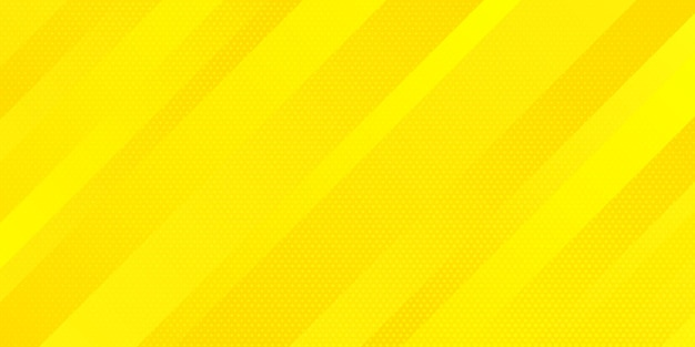 Abstrakte hellgelbe verlaufsfarbe und punktbeschaffenheit-halbtonart mit schrägem linienstreifenhintergrund.