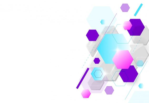 Abstrakte hexagonale molekülstrukturen in der technologie
