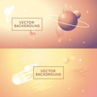 Abstrakte hintergründe des vektors in den hellen steigungsfarben