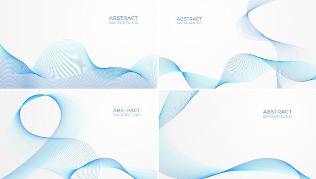 Abstrakte hintergründe mit blauen wellen