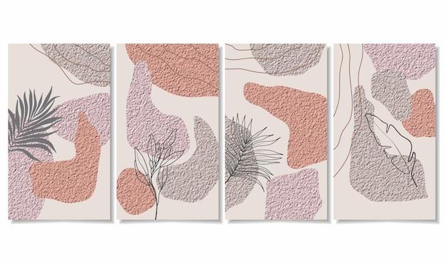 Abstrakte hintergründe mit minimalen formen und strichzeichnungen