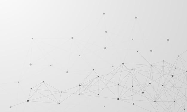 Abstrakte hintergrundatome für designtechnologie und netzwerkwissenschaft