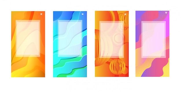 Abstrakte hintergrundbanner setzen minimale entwurfsabdeckungsgradientenschablonen für dekorationspräsentationsplakat horizontal