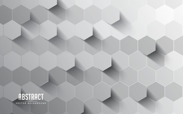 Abstrakte hintergrundhexagon graue und weiße farbe. modernes minimales eps 10