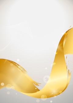 Abstrakte hintergrundillustration der goldwelle