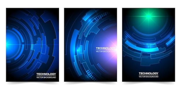 Abstrakte hintergrundsammlung der digitalen technologie