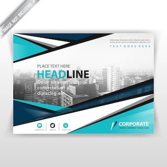 Abstrakte horizontale broschüre abdeckung