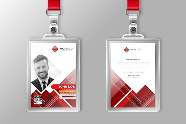 Abstrakte id-karten für firmensachen