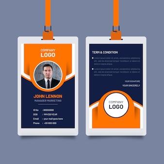 Abstrakte id-karten-vorlage