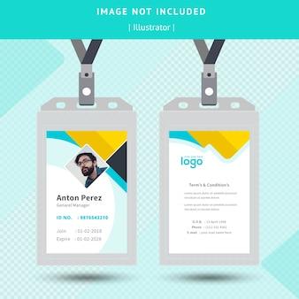 Abstrakte identität card design