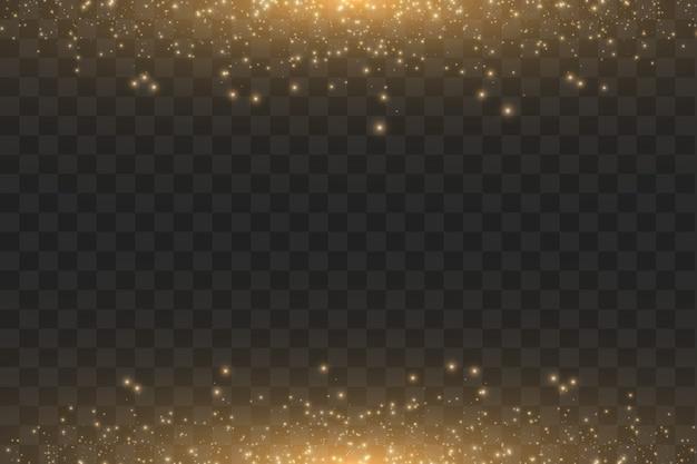 Abstrakte illustration der goldenen wolkenglitterwelle.