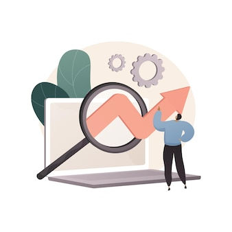 Abstrakte illustration der marktforschung im flachen stil