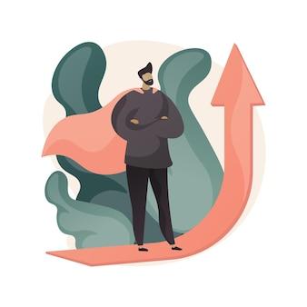 Abstrakte illustration der motivation im flachen stil