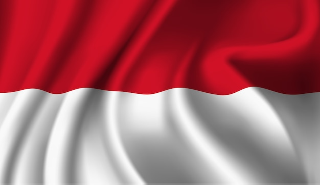 Abstrakte illustration der winkenden indonesien-flagge