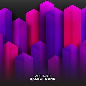 Abstrakte illustration des hintergrundes 3d der purpurroten stadtgebäude übertragen.