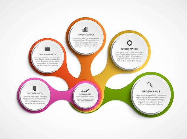 Abstrakte infografik in form von stoffwechsel