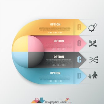 Abstrakte infografik-option banner