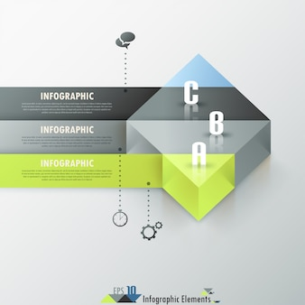 Abstrakte infografik-option banner
