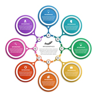 Abstrakte infografik-vorlage.