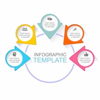 Abstrakte infografiken anzahl optionen vorlage.