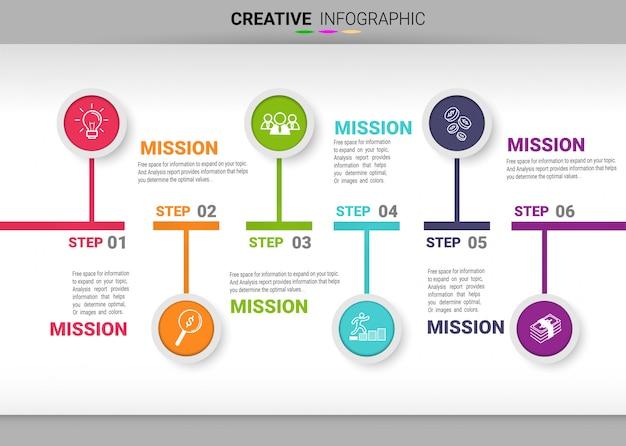Abstrakte infografiken nummer optionen vorlage mit 4 schritten. vektor-illustration
