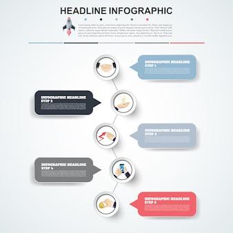 Abstrakte infografiken nummer optionen vorlage vektor-illustration kann für workflow-layout verwendet werden