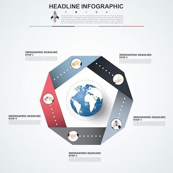 Abstrakte infografiken nummer optionen vorlage.