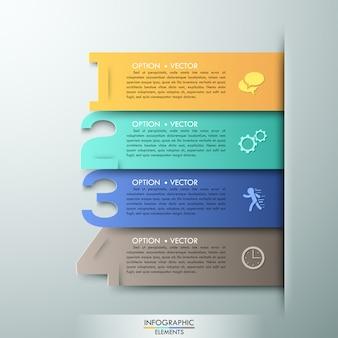 Abstrakte infografiken nummer optionen vorlage