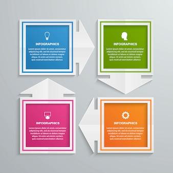 Abstrakte infografiken vorlage