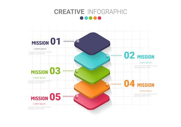 Abstrakte infografiken.