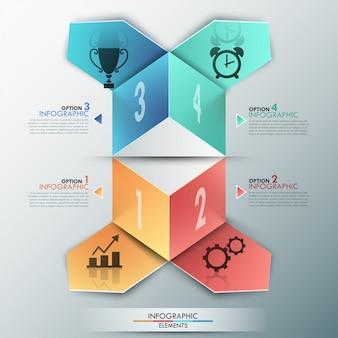 Abstrakte infographik vorlage 3d