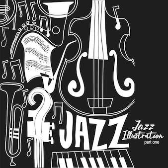 Abstrakte jazz-illustration